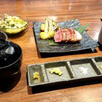 鳥取市吉成南町の焼肉店 あがりつきのランチ メニューは 厳選した鳥取和牛を使用した香ばしく美味しい特選ステーキもいただきました!