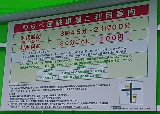 鳥取 わらべ館 駐車場